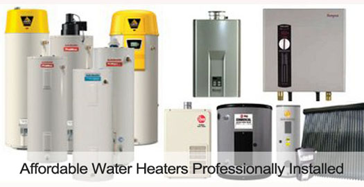 water heater installation all makes and models